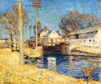 Canal Locks Spring | Charles Rosen | oil painting