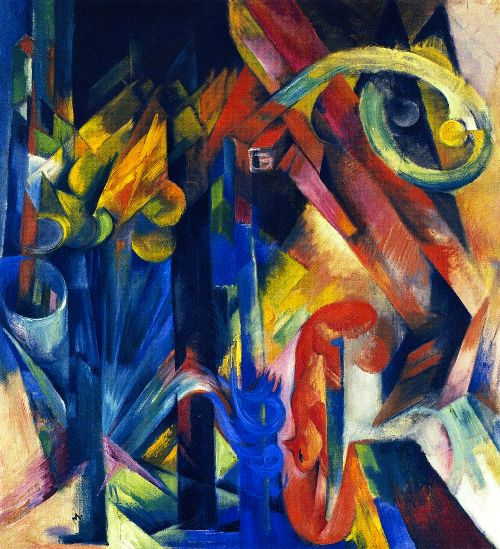 Wood with Squirrel | Franz Marc | oil painting