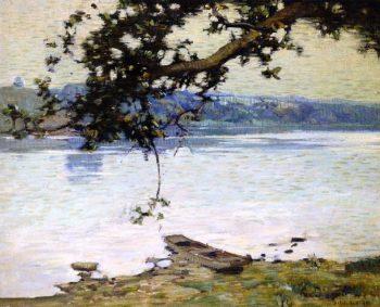 Morning on the Delaware | Charles Rosen | oil painting