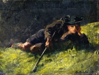 Young Herdsman | Franz Marc | oil painting