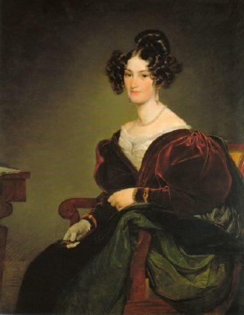 Amalie Klein nee von Henikstein | Friedrich von Amerling | oil painting