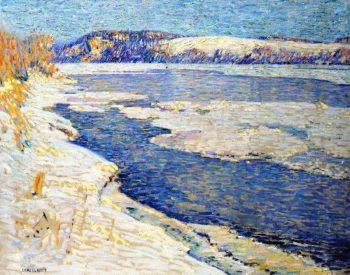River in Winter | Charles Rosen | oil painting