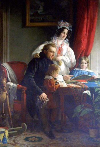 August Ferdinand Graf Breuner and his wife Maria Theresa Enckevoirt Esterhazy and the two children | Friedrich von Amerling | oil painting