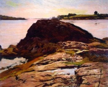 Rock at North Haven | Charles Rosen | oil painting