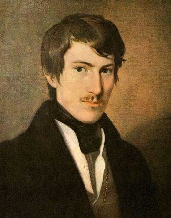 Austrian poet Nikolaus Lenau | Friedrich von Amerling | oil painting