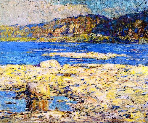 The Blue River | Charles Rosen | oil painting