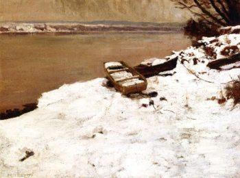 The Boat in Winter | Charles Rosen | oil painting