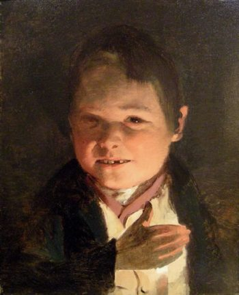 Boy in the candlelight | Friedrich von Amerling | oil painting