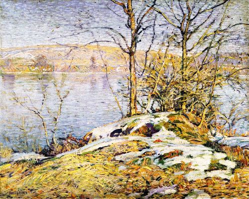The Delaware in Winter | Charles Rosen | oil painting