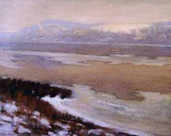 The Delaware Thawing | Charles Rosen | oil painting