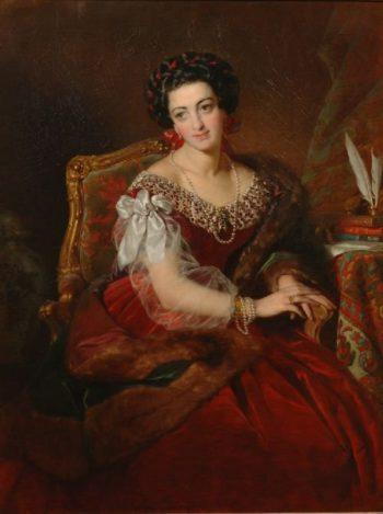Countess Barbara von Castiglione | Friedrich von Amerling | oil painting