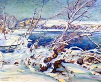 The Frozen River | Charles Rosen | oil painting