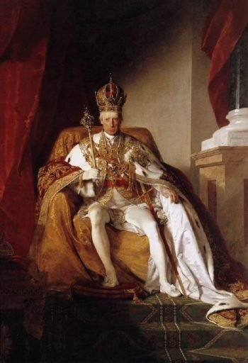Emperor Franz I of Austria in his Coronation Robes | Friedrich von Amerling | oil painting