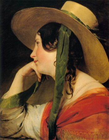 Girl in Yellow Hat | Friedrich von Amerling | oil painting