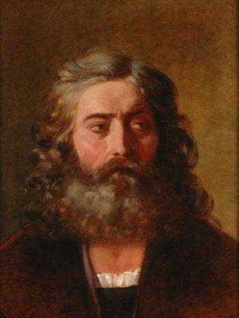 Head of a Bearded Man | Friedrich von Amerling | oil painting