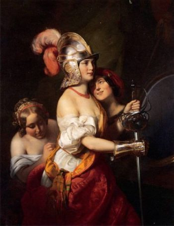 In the Theatre Dressing Room | Friedrich von Amerling | oil painting