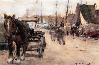 At The Harbour | Floris Arntzenius | oil painting