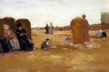 Beach view | Floris Arntzenius | oil painting