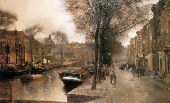 Bierkade In Den Haag | Floris Arntzenius | oil painting