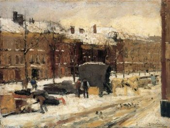 City View In The Snow | Floris Arntzenius | oil painting