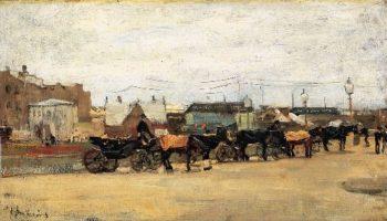 Coaches In Scheveningen | Floris Arntzenius | oil painting