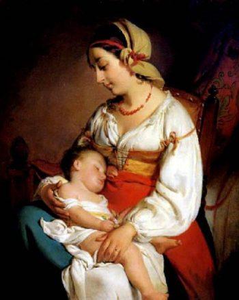Mother Love | Friedrich von Amerling | oil painting