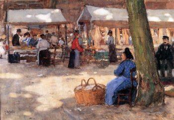 Fabric Market | Floris Arntzenius | oil painting