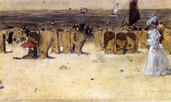 Figures On The Beach Scheveningen | Floris Arntzenius | oil painting