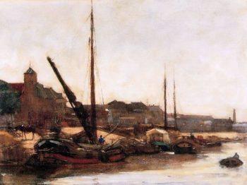 Harbour Scheveningen | Floris Arntzenius | oil painting