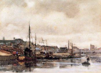 Haringkade In Scheveningen | Floris Arntzenius | oil painting