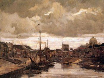 Haringkade With Signpost In Scheveningen | Floris Arntzenius | oil painting