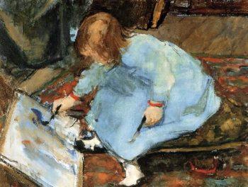 Lies the Artists Daughter Painting | Floris Arntzenius | oil painting