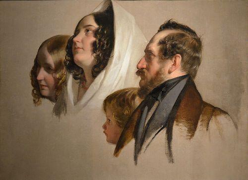 Portrait study   Friedrich von Amerling   oil painting