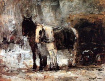 Two Horses | Floris Arntzenius | oil painting