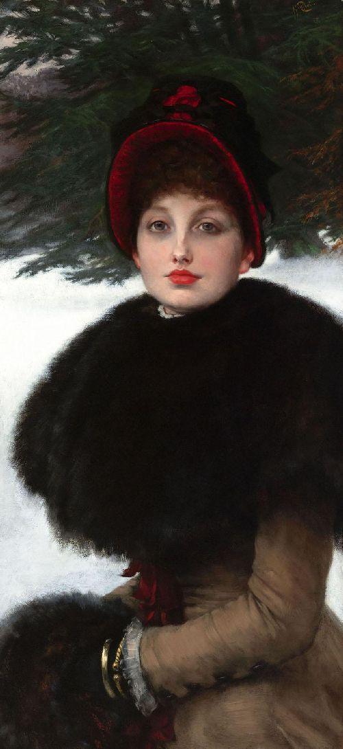 A Winters Walk | James Tissot | oil painting