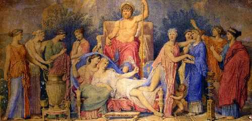 Birth of the Muses   Jean Auguste Dominique Ingres   oil painting