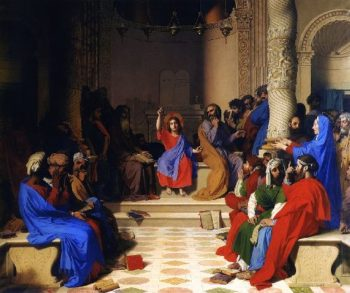 Jesus among the Doctors | Jean Auguste Dominique Ingres | oil painting