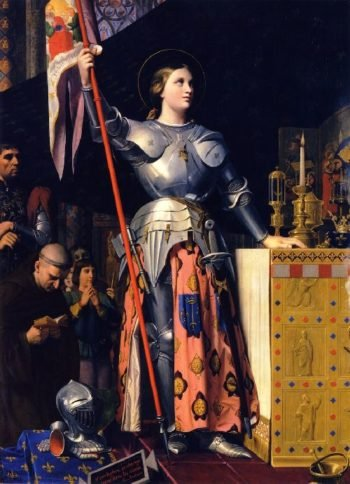 Joan of Arc at the Coronation of Charles VII in the Cathedral of Rheims | Jean Auguste Dominique Ingres | oil painting