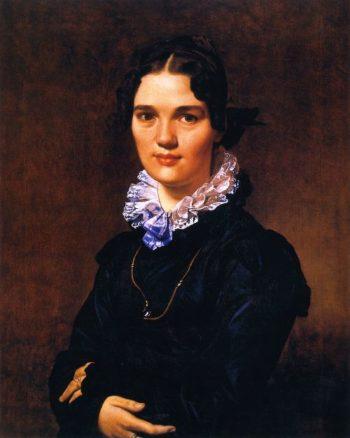 Mademoiselle Jeanne Gonin   Jean Auguste Dominique Ingres   oil painting