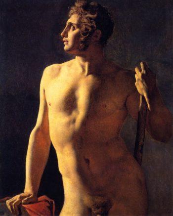 Male Torso   Jean Auguste Dominique Ingres   oil painting