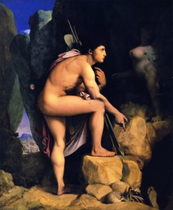 Oedipus and the Sphinx   Jean Auguste Dominique Ingres   oil painting