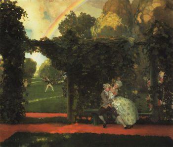 The Mocked Kiss | Konstantin Somov | oil painting