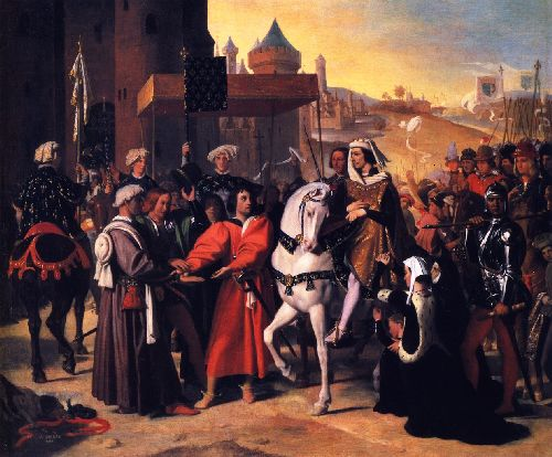 The Entry into Paris of the Dauphin Future Charles V | Jean Auguste Dominique Ingres | oil painting