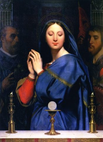 The Virgin of the Host | Jean Auguste Dominique Ingres | oil painting