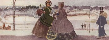 Walking in Winter | Konstantin Somov | oil painting