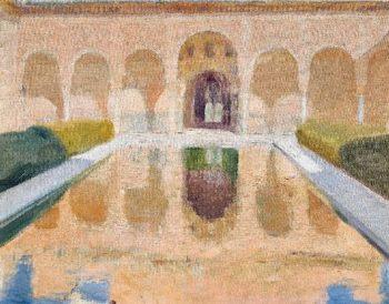 Patio de Comares Alhambra | Joaquin Sorolla y Bastida | oil painting