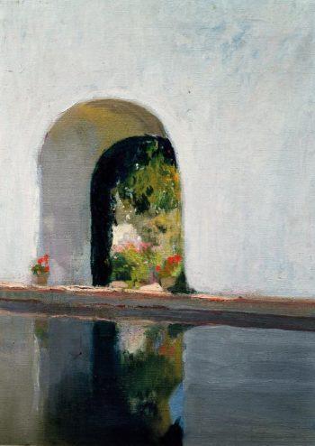 Reservoir Alcazar of Seville | Joaquin Sorolla y Bastida | oil painting