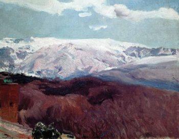 Sierra Nevada in winter | Joaquin Sorolla y Bastida | oil painting