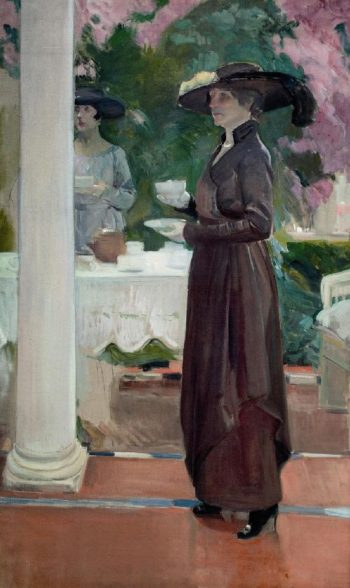 Taking tea   Joaquin Sorolla y Bastida   oil painting