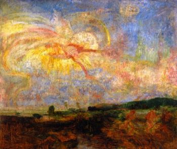 Adam and Eve Expelled from Paradise | James Ensor | oil painting
